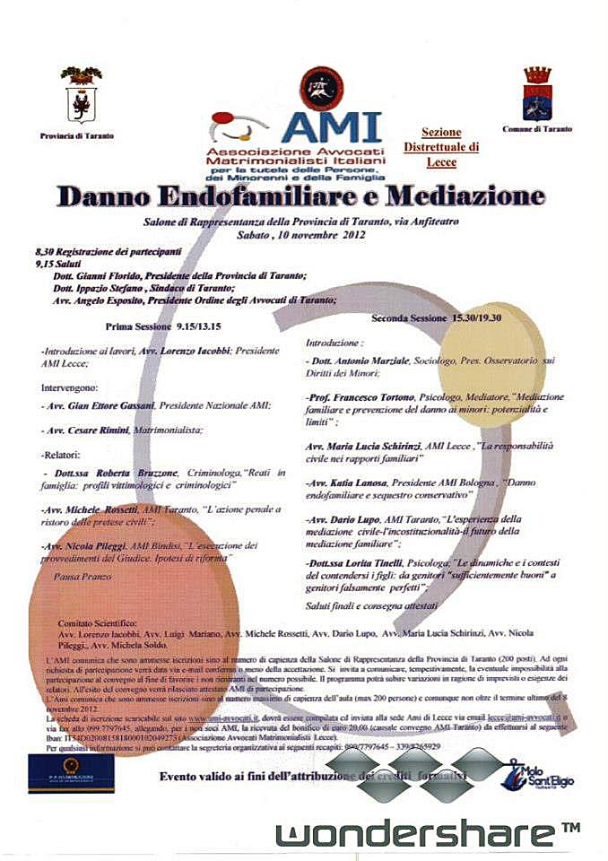 Danno endofamiliare e mediazione